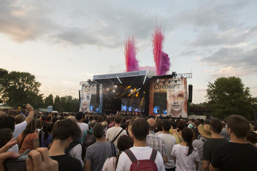CSS stage - koncert Bjork (foto Magdaléna Lindaurová)