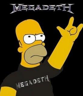 Megadeth a simpsons