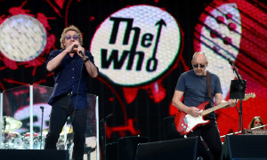 LONDON, ENGLAND - JUNE 26:  Singer Roger Daltrey (L) and guitarist Pete Townshend of The Who perform at the Barclaycard British Summertime gigs at Hyde Park on June 26, 2015 in London, England.  (Photo by Dave J Hogan/Getty Images)