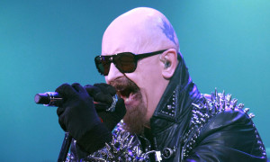 LONDON, UNITED KINGDOM - MAY 26: Rob Halford of Judas Priest performs at Hammersmith Apollo on May 26, 2012 in London, England. (Photo by Chiaki Nozu/WireImage)