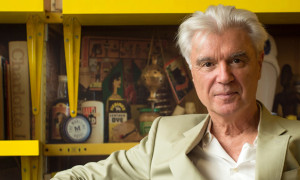 """LONDON, ENGLAND - AUGUST 17:  David Byrne poses in the """"David Byrne Reading Lounge"""" at the Meltdown Festival launch at Southbank Centre on August 17, 2015 in London, England.  (Photo by Ian Gavan/Getty Images)"""