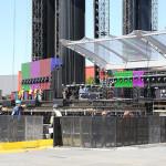 Příprava koncertu Rolling Stones